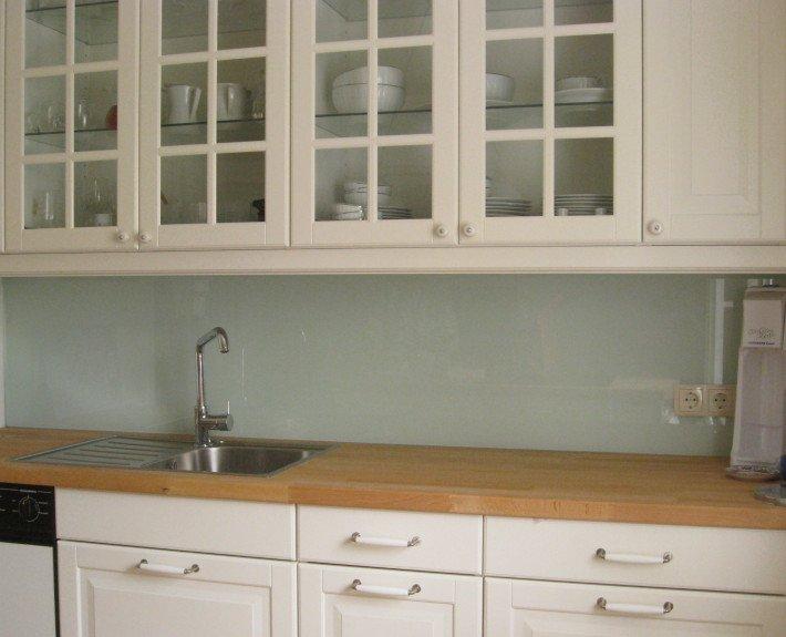 k chenr ckw nde aus glas die glaswerkstatt. Black Bedroom Furniture Sets. Home Design Ideas